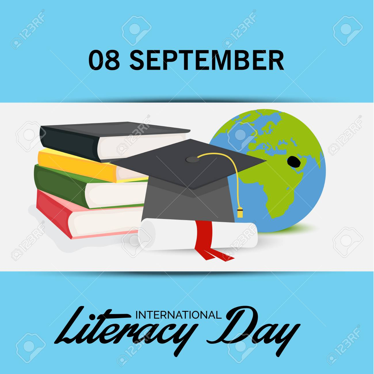 illustration of a background for international literacy day